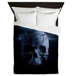 Gothic Skull Queen Duvet Cover