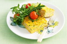 Carrot And Zucchini Slice by Taste. Carrot gold — for a vegetable that's simply tops, you can't go past this trusty rabbit-magnet! Pie Recipes, Snack Recipes, Cooking Recipes, Yummy Recipes, Recipies, Veggie Recipes, Healthy Recipes, Quiche Recipes, Savoury Recipes