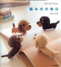 Amigurumi Dogs http://issuu.com/roseash/docs/dogs These dog patterns are so cute. They are quite small little dogs but if you want to m...
