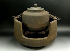 Japanese Tea Ceremony TETSUBIN Chagama Pot Brazier Set / Trocodero