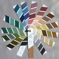 Soft Autumn - Sneak peek at prototypes of the new Prism XII palettes developed by Nikki Bogardus and a Munsell Colour Scientist. These are *the only* colour palettes guaranteed to be accurately matched to Munsell - five years in the making, and using a special computer programme and printing process never before possible.
