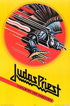 Judas Priest ~ Screaming For Vengeance CUT OUT THE EAGLE FOR CUPCAKE TOPPERS