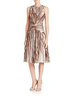 Ralph Lauren Collection Larisa Printed Silk Dress