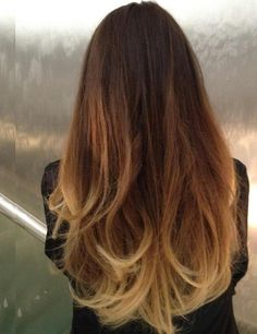 hair ombre dark long
