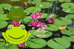 Lily pad lake Frog kids room Print Poster picture home decor PERSONALIZE FREE