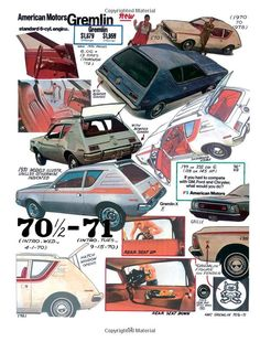 AMC Gremlin ... this ad proves it ... AMC was totally confused about how to make (much less market  sell) a small car