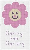 Celebrate Spring with cross stitched flowers and April Showers