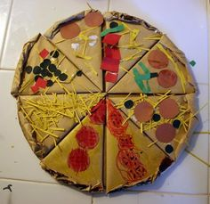 Cardboard pizza craft-Little Nino's Pizzeria