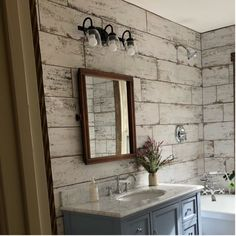 Master Bathroom decor for the bathroom renovation. Learn master bathroom organization, master bathroom decor ideas, master bathroom tile guide, bathroom paint colors, and more. Wood Tile Shower, Wood Bathroom, Bathroom Flooring, Modern Bathroom, Bathroom Ideas, Minimal Bathroom, Bathroom Cabinets, Bathroom Canvas, Marble Bathrooms