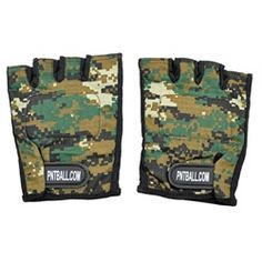 3Skull Paintball Half Finger Gloves Woodland Digi Camo - XL. Available at UltimatePaintball.com