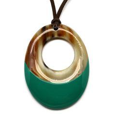 QueCraft Horn & Lacquer Pendant - Q5657-J