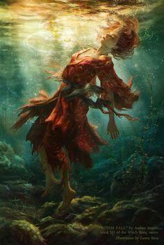 Laura Sava anotherwanderer deviantart ilustrações fantasia belas mulheres Queda da bruxa
