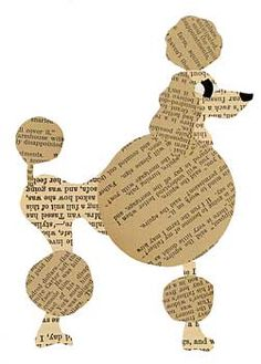 I'm not really a poodle fan, but this would be a cute baby room idea with different animals made out of book pages