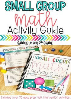 This Small Group Math Activity Guide features over 70 kid-tested and teacher approved activities that you can easily implement with your small groups today! Each mini-lesson can be adapted to meet the needs of ALL your students.  It includes activities for addition, subtraction, place value, time, money, addition and subtraction with regrouping, graphs, multiplication, division and so much more.   Come grab this guide for FREE and start making the most out of your math centers for your students.