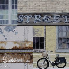 """'Untitled (street)' 2011 (48""""x48"""") (SOLD) Where The Heart Is, The Originals, Street, Home Decor, Interior Design, Home Interior Design, Walkway, Home Decoration, Decoration Home"""