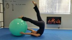 Control balance with fitball