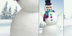 Make these big components for the kids to use to decorate the snowmen they make this winter.