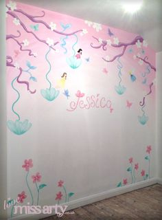 Beautiful Fairy And Butterfly Wall Mural. Designed And Hand Painted For A Little  Girlu0027s Bedroom. Nice Ideas