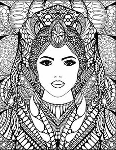 Beautiful Drawings of Women Coloring Book | bella-stitt