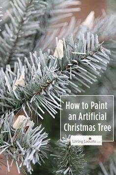 How to Paint a Christmas Tree by LivingLocurto.com #christmas