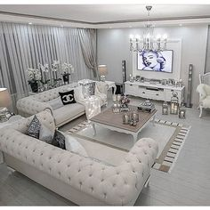 art deco style home decor and interior design, art deco living room decor and furniture Glam Living Room, Living Room Decor Cozy, Simple Living Room, Elegant Living Room, Living Room Sofa, Living Room Interior, Home Interior Design, Dining Room, Fancy Living Rooms