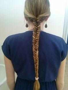 My hair! #fishbraid