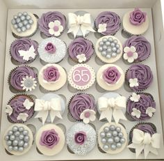 Purple and Silver Wedding Cupcakes by Heavenly-Cupcakes, via Flickr