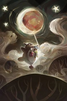 Totoro by SillyJellie.deviantart.com on @DeviantArt