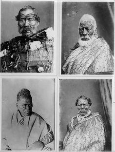 Portraits of Paora Torotoro, Matenga Tukareaho, Tukaroto Matutaera Potatau Te Wherowhero Tawhiao, and one other unidentified Maori man Tonga, Maori Legends, Tattoo Museum, Polynesian People, Amsterdam Tattoo, History Tattoos, Maori People, Samoan Tattoo, Maori Tattoos