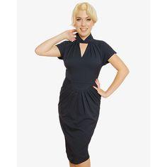 Tmavě modré pouzdrové šaty Lindy Bop Emma Black, Dresses, Fashion, Gowns, Moda, Black People, Fashion Styles, All Black, Dress