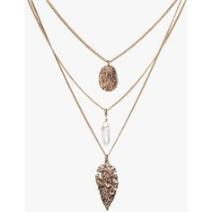 Three Layers Metal Charms Long Necklace ($21) ❤ liked on Polyvore featuring jewelry, necklaces, accessories, antique gold, multi layer necklace, chains jewelry, charm chain necklace, metal charms and multi layer chain necklace