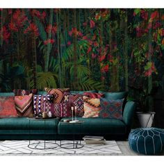 Daintree cool design wallpaper/wall mural – Miss Lolo Wallpaper Wall, Wallpaper Please, Le Living, Living Room, Wall Decor, Room Decor, Interior Decorating, Interior Design, Beautiful Wall