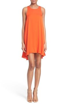 Milly Stretch Silk Trapeze Dress available at #Nordstrom