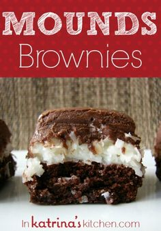 Mounds Brownie #Recipe | @KatrinasKitchen