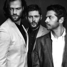 Jensen, Jared, Misha.Just look at these male models. (Shocked they were able to take a serious picture together.)