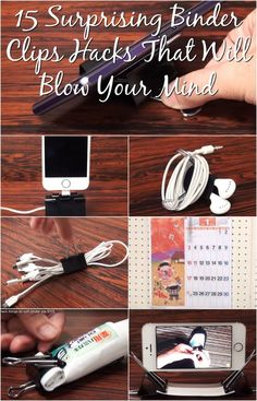 15 Surprising Binder Clips Hacks That Will Blow Your Mind {Video}                                                                                                                                                                                 More