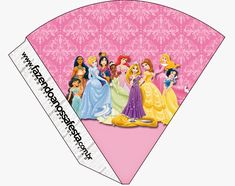 Princesas Disney: Imprimibles Gratis para Fiestas. Disney Princess Invitations, Disney Princess Birthday, Childrens Party Bags, Oh My Fiesta, Monster Party, Disney Costumes, Party Hats, Party Printables, Free