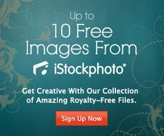 "~ We love free stuff - I use iStock almost exclusively for premium web images & stock photography for blogging. I think on this offer it's like ""10 free when you buy 30"" - either way, if ya need em' it's still a good deal. They're a very good company. My Lightbox on iStock is under ""theonlinedesign"" - look me up!"