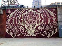 Nuevo Mural de Shepard Fairey en Nueva York.