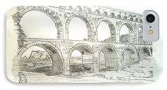 Ancient Roman Aqueducts Amazing Graphite Pencil Sketched Art from the art studio of Scott D Van Osdol available at fineartsamerica.com