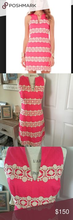 Lilly Pulitzer Pink Augusta Anchor Shift Dress 10 Authentic and in EUC Lilly Pulitzer Pink Augusta Shift dress sz 10. Perfect and flawless!! Immediate shipping upon purchase! Lilly Pulitzer Dresses Midi