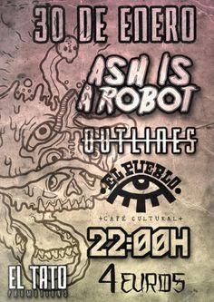 Ash is a Robot + Outlines en El Pueblo Café Cultural, Ourense music musica concerto concierto