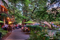 San Antonio Riverwalk.  Walk as far as you can along the path--the architecture and landscaping are stunning.