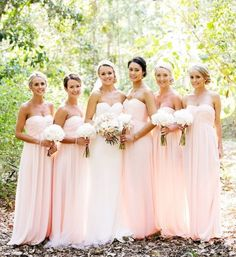 I like the color of these bridesmaids dresses, just not the style.