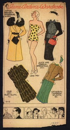 12-12-37 Jane Arden paper doll of Lena Pry / eBay