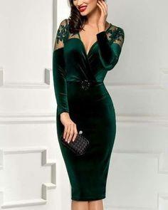 Precioso outfit, elegante, y magnífico para ir guapísima a una ceremonia de ta. Lovely Dresses, Elegant Dresses, Sexy Dresses, Beautiful Outfits, Casual Dresses, Short Dresses, Fashion Dresses, Prom Dresses, Formal Dresses