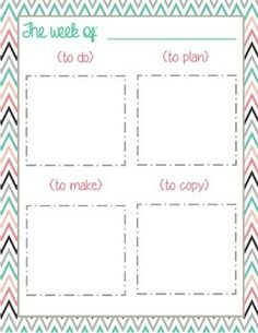 Weekly Teacher To Do List! Use post it notes to stay organized and on top of your to do list.