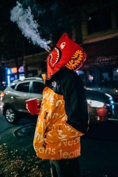 Bape shark hoodie / The North Face x Supreme Best Streetwear Brands, Streetwear Fashion, Urban Fashion, Love Fashion, Mens Fashion, Photo Manga, Bape Wallpapers, Bape Shark, Hype Clothing