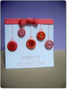 cute button card! DIY