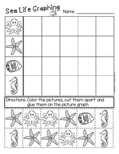 SEA LIFE math - addition and subtraction story problems, roll and cover / color / colour games, and more!